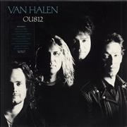 Van Halen OU812 - Hype Stickered UK vinyl LP