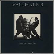 Van Halen Women And Children First + Poster UK vinyl LP