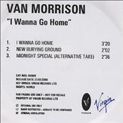 Click here for more info about 'Van Morrison - I Wanna Go Home'
