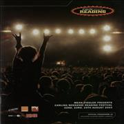Click here for more info about 'The Reading Festival - Carling Weekend: Reading Festival 2003'