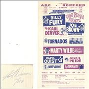 Click here for more info about 'ABC Romford Handbill + Karl Denver signature'
