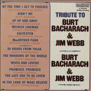 Click here for more info about 'Various-Easy Listening - Tribute To Burt Bacharach & Jim Webb'