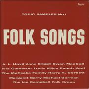 Various-Folk Topic Sampler No.1: Folk Songs UK vinyl LP