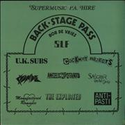 Click here for more info about 'Various-Punk & New Wave - Back-Stage Pass'