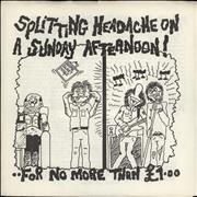 Click here for more info about 'Various-Punk & New Wave - Splitting Headache On A Sunday Afternoon!'