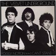 """Velvet Underground Foggy Notion - Gold Vinyl USA 7"""" vinyl"""