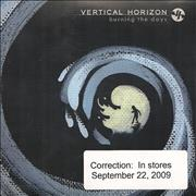 Click here for more info about 'Vertical Horizon - Burning The Days'