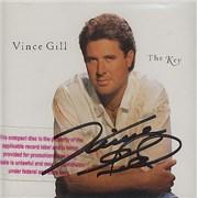 Vince Gill The Key - Autographed USA CD album