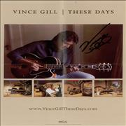 Vince Gill These Days - Autographed USA memorabilia Promo
