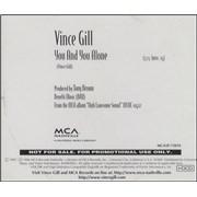 Vince Gill You And You Alone USA CD single Promo