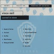 Click here for more info about 'Vince Neil - Carved In Stone'