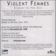 Click here for more info about 'Violent Femmes - Blister In The Sun - Live'