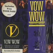 Click here for more info about 'Vow Wow - Don't Tell Me Lies + Tour Pass'