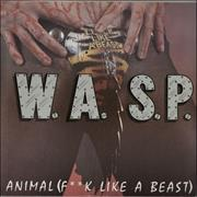 "WASP Animal [F**k Like A Beast] - Clear vinyl/tea-stained UK 12"" vinyl"