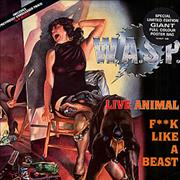 "WASP Live Animal F**k Like A Beast - Poster Sleeve UK 12"" vinyl"