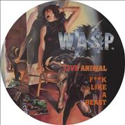 "WASP Live Animal F**k Like A Beast UK 12"" picture disc"