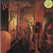 WASP Live...In The Raw - Stickered UK vinyl LP