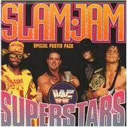 """WWF Superstars Slam Jam - poster sleeve UK 7"""" vinyl"""