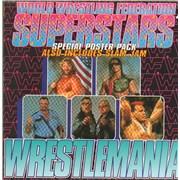 "WWF Superstars Wrestlemania - Poster sleeve UK 7"" vinyl"