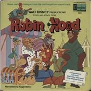 Walt Disney Robin Hood USA vinyl LP