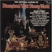 Walt Disney The Official Album Of Disneyland/Walt Disney World USA vinyl LP