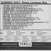 Click here for more info about 'Warner Brothers - Summer 2007: Dance Licensing Reel'