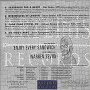 Click here for more info about 'Warren Zevon - Enjoy Every Sandwich - Sampler'