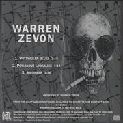 Click here for more info about 'Warren Zevon - Rottweiler Blues'