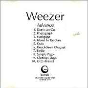 Click here for more info about 'Weezer - Advance'