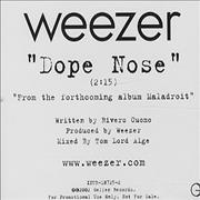 Click here for more info about 'Weezer - Dope Nose'