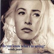 Wendy James Do You Know What I'm Saying? - Both sleeves UK 2-CD single set