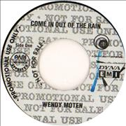 "Wendy Moten Come In Out Of The Rain Philippines 7"" vinyl Promo"