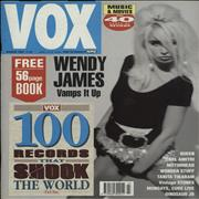 Wendy James Vox Issue #6 UK magazine