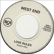 Click here for more info about 'West End - Love Rules - Jukebox Issue'