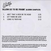 Click here for more info about 'Westlife - Allow Us To Be Frank - Album Sampler'