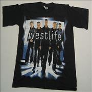 Westlife European Tour 2001 UK t-shirt