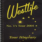 Westlife No. 1's Tour 2005 - Tour Itinerary UK book Promo