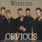 Westlife Obvious UK CD single