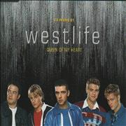 Westlife Queen Of My Heart UK CD single Promo