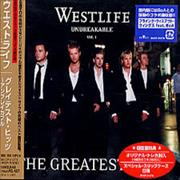 Westlife The Greatest - Unbreakable Vol.1 Japan CD album Promo