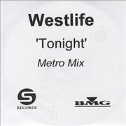Westlife Tonight - 4-track UK CD-R acetate Promo