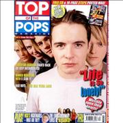 Westlife Top Of The Pops - April 2000 UK magazine