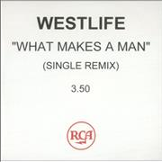 Westlife What Makes A Man UK CD-R acetate Promo