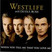 Westlife When You Tell Me That You Love Me UK CD single Promo