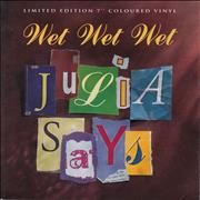 Click here for more info about 'Wet Wet Wet - Julia Says - Purple Vinyl'
