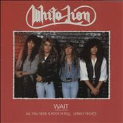 Click here for more info about 'White Lion - Wait'
