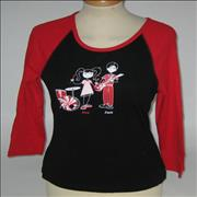 Click here for more info about 'The White Stripes - Cartoon Baseball Shirt [Girls] - Large'