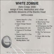 Click here for more info about 'White Zombie - Astro-Creep: 2000'