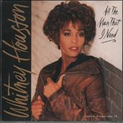 Whitney Houston All The Man I Need USA CD single Promo