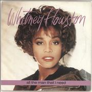 "Whitney Houston All The Man That I Need - Solid UK 7"" vinyl"